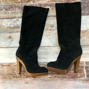 Kors Michael Kors  suede leather heeled boots